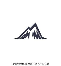 logo design abstract mountain vector