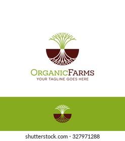 logo design for agricultural, organic foods, landscaping or gardening business
