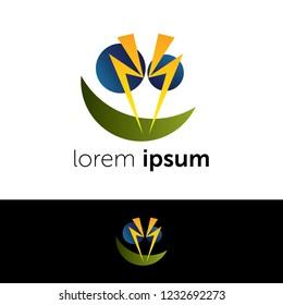 Logo design. Angry face abstract concept icon