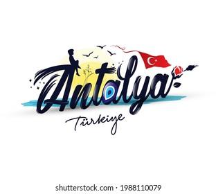"Logo design with ""Antalya turkiye"" text"