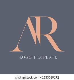 Logo design AR monogram. Company logo. Letter A and R.
