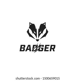 logo design badger sport vector