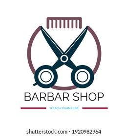 Logo Design for a Barbar Shop Vector Saloonlogo Design Abstract
