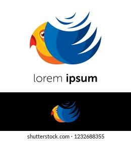 Logo design. Bird abstract concept icon