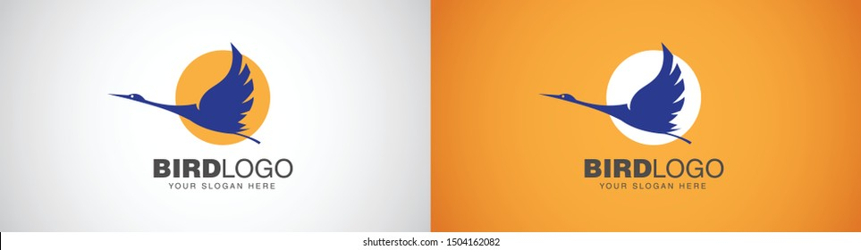 Logo design of a bird Bird, the symbol of freedom flying by the sun. Bird flying logo. Bird Concept logo design. Can be used for any business specially Travel, Hotel, Consistency and many more.