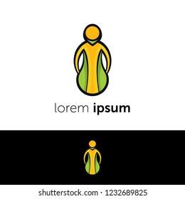 Logo design. Body abstract concept icon