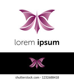 Logo design. Butterfly abstract concept icon