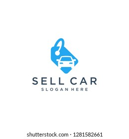 logo design car sales or price tags with cars