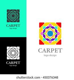 Logo design Carpet, vector EPS10