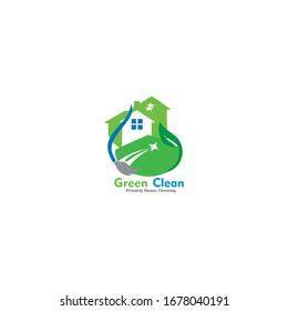 logo design clean house vector