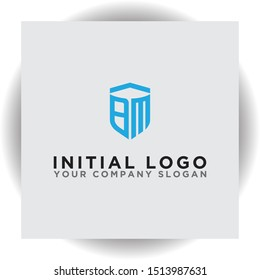 logo design for companies, Inspiration from the initial letters of the BM logo icon. - Vector