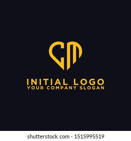 logo design for companies, Inspiration from the initial letters of the CM logo icon. - Vector