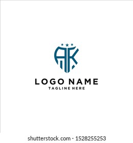 logo design for companies, Inspiration from the initial letters of the AK logo icon. - Vector