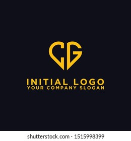 logo design for the company, Inspiration from the initial letters of the CG logo icon. - Vector