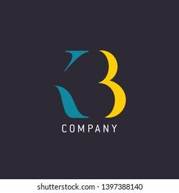 Logo design for company. Letters KB. Monogram logo K B.