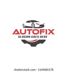 Logo design concept related to automotive service, car dealer, car wash and salon, auto detailing