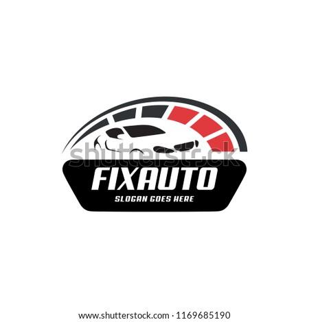 Logo Design Concept Related Automotive Service Stock Vector Royalty