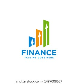 Logo design concept related to finance