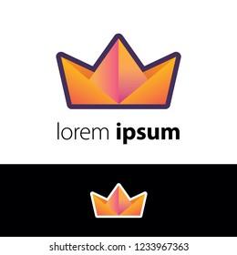 Logo design. Crown abstract concept icon