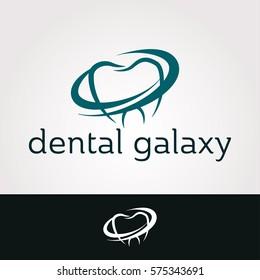 Logo design. Dental Galaxy concept icon