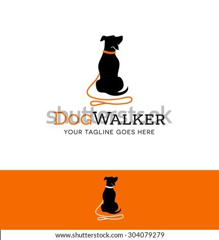 vetor stock de logo design dog walking training dog livre de