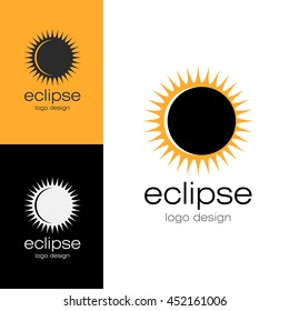 Logo design Eclipse, vector EPS10