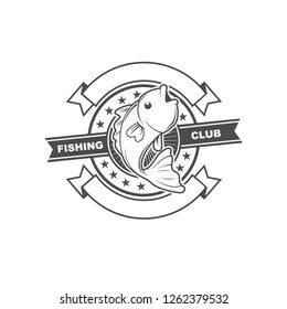 Logo design element with fishing theme