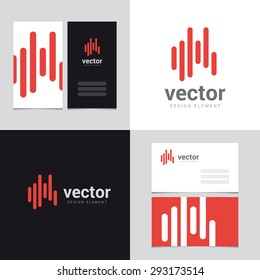 Logo design element with two business cards template - 24 - Vector graphic design elements for brand identity.