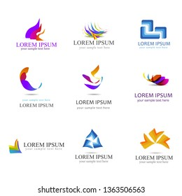 Logo Design Elements Set - Isolated On White Background - Vector Illustration. For  Icon, Symbol, Sign And Design Elements. Business Icons, Abstract Logo Collection