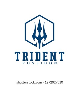 Logo design elements Ukraine. Vector object for labels, badges, logos and other. Logotype element for template. Circular Trident logo design inspiration