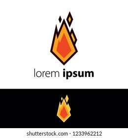 Logo design. Fire abstract concept icon