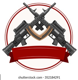 Logo design with fireguns illustration