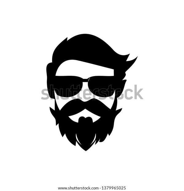 Logo Design Gentleman Mustache Stock Vector Royalty Free 1379965025
