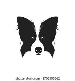 logo design head dog vector