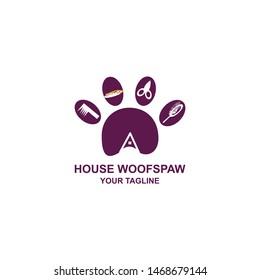 Logo design house woof spaw