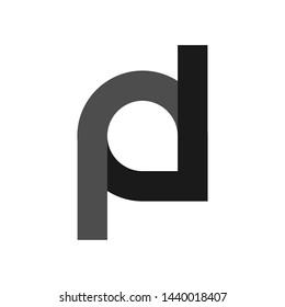 logo design initial alphabet simple