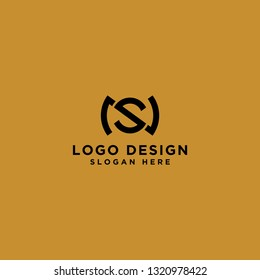 logo design inspiration for companies from the initial letters of the NS logo icon. -Vector