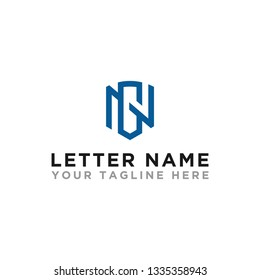logo design inspiration for companies from the initial letters of the GN,NG logo icon. -Vector