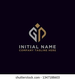 logo design inspiration for companies from the initial letters of the GP logo icon. -Vector