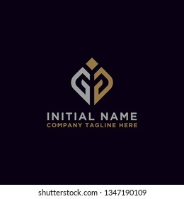 logo design inspiration for companies from the initial letters of the GG logo icon. -Vector