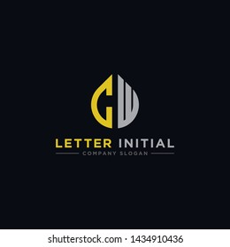 logo design inspiration for companies from the initial letters of the CW logo icon. -Vector