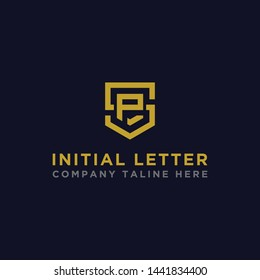 logo design inspiration for companies from the initial letters of the SP logo icon. -Vector