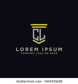 logo design inspiration for companies from the initial letters of the CL logo icon. -Vector