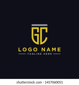 logo design inspiration for companies from the initial letters of the GC logo icon. -Vector