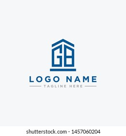 logo design inspiration for companies from the initial letters of the GB logo icon. -Vector