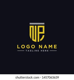 logo design inspiration for companies from the initial letters of the NP logo icon. -Vector