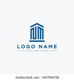 logo design inspiration for companies from the initial letters of the NM logo icon. -Vector