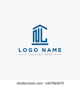 logo design inspiration for companies from the initial letters of the NL logo icon. -Vector