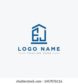 logo design inspiration for companies from the initial letters of the EJ logo icon. -Vector