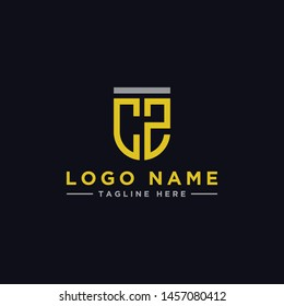 logo design inspiration for companies from the initial letters CZ logo icon. -Vector
